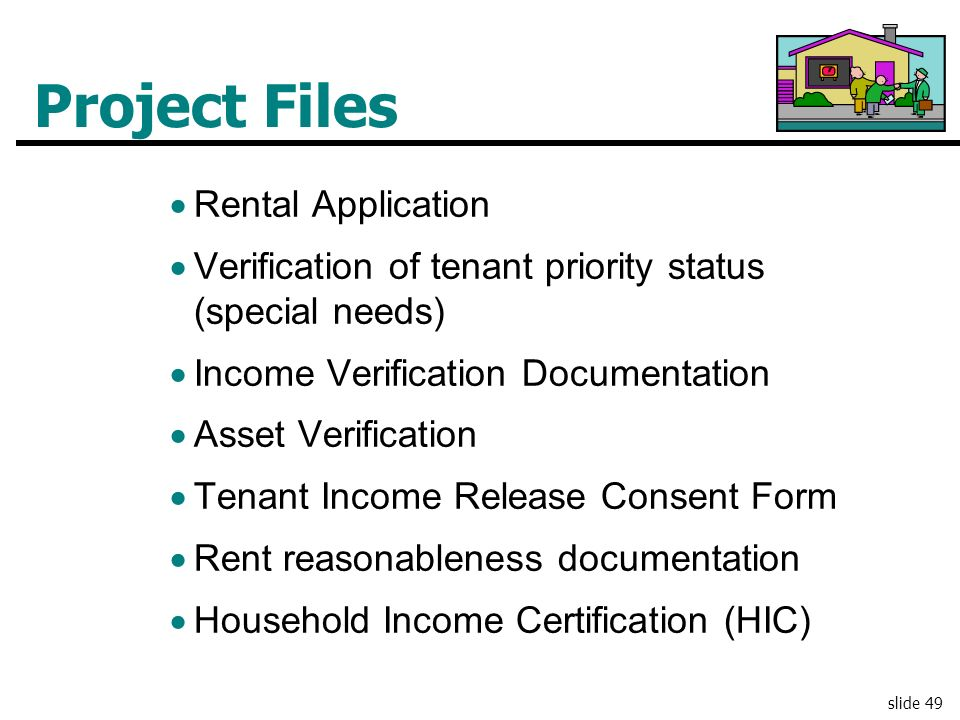 Project Files Rental Application