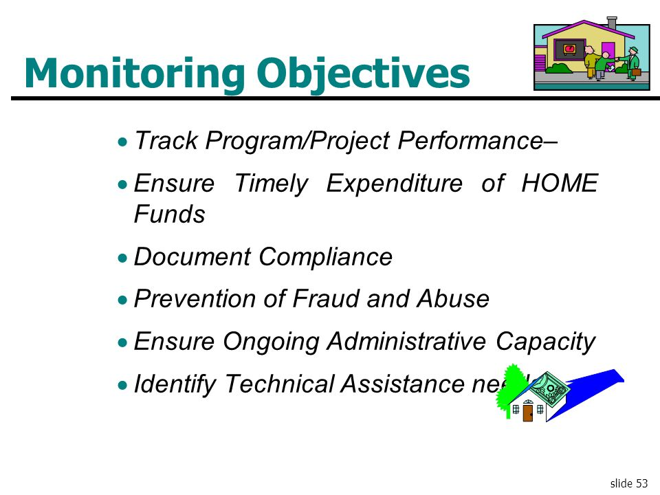 Monitoring Objectives