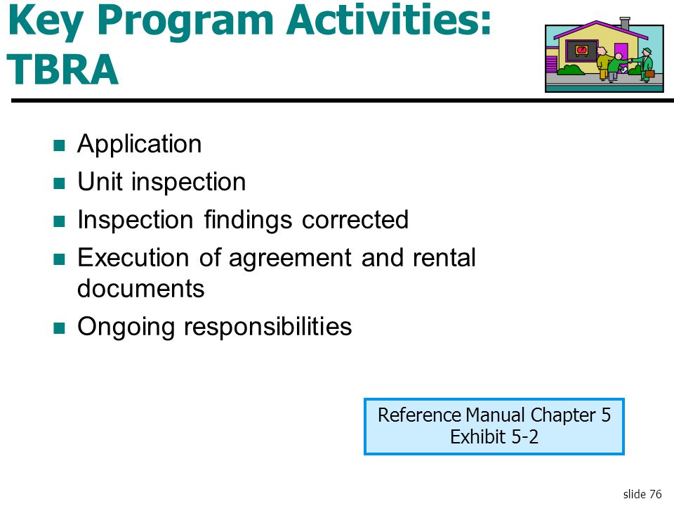 Key Program Activities: TBRA