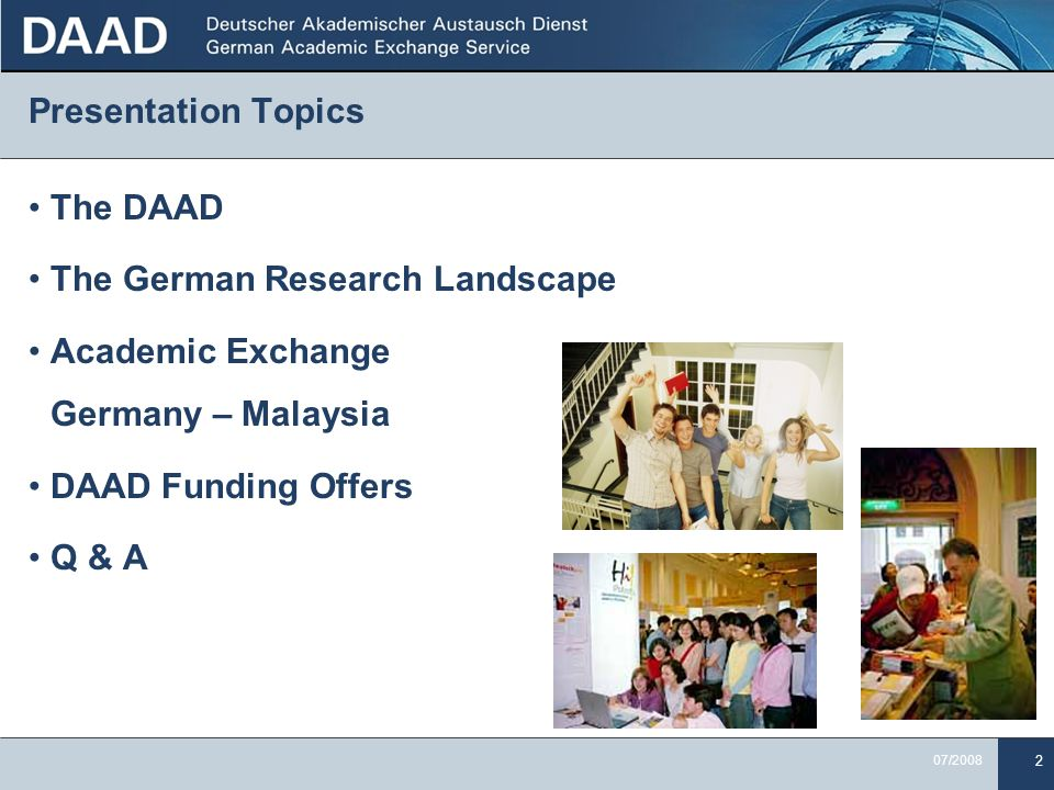 the german research landscape and exchange ppt  the german research landscape academic exchange
