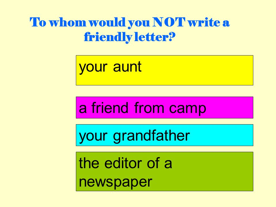 How Do I Write A Friendly Letter Ppt Download