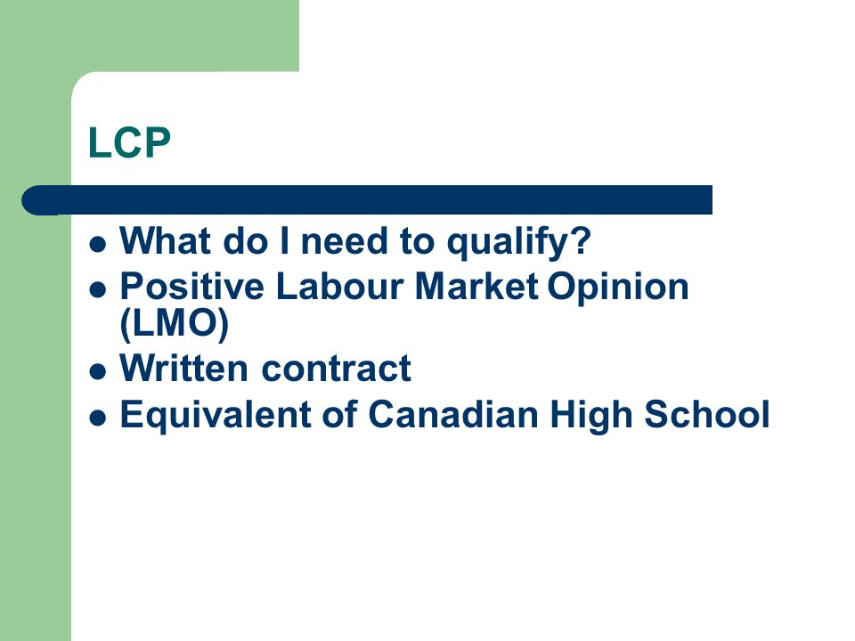 LCP What do I need to qualify Positive Labour Market Opinion (LMO)
