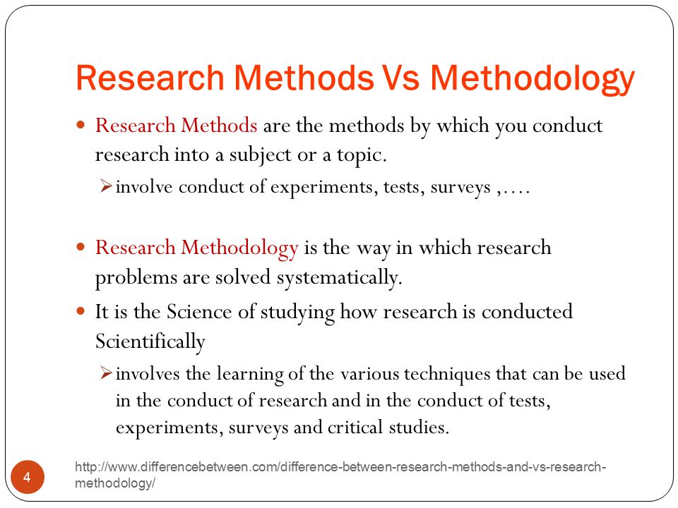 Difference Between Approach and Methodology