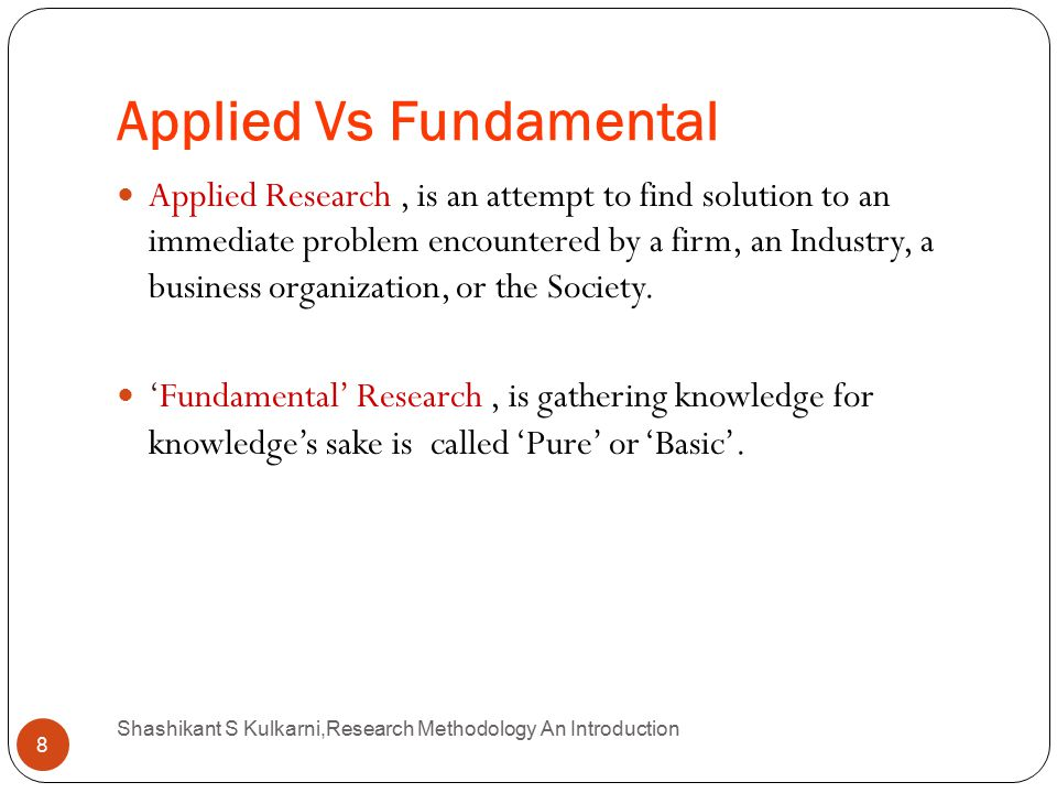 applied vs fundamental research Importance of basic research in applied phycology hydrobiologia  http://www sjsuedu/people/fredprochaska/courses/scwk170/s0/basic-vs.