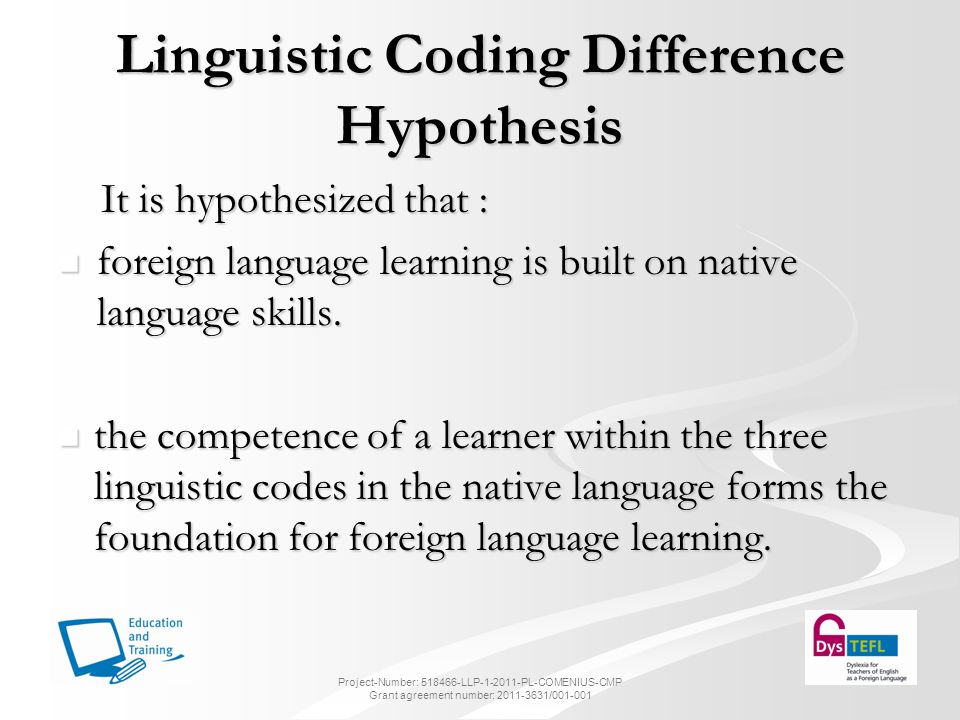 Linguistic Coding Difference Hypothesis
