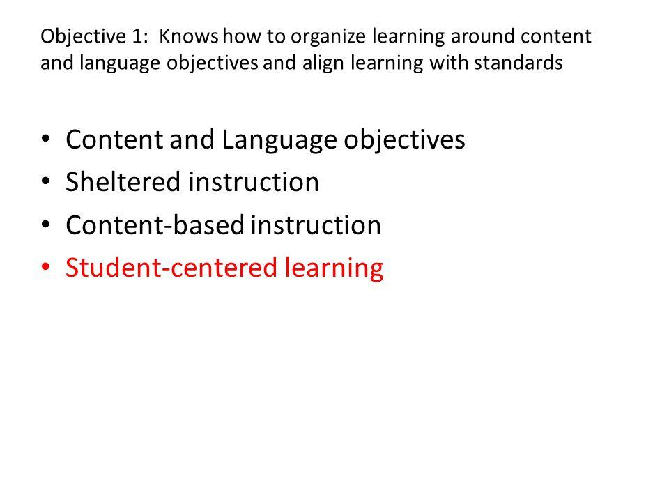 Content-Enriched ESL Instruction vs. Sheltered Content Instr