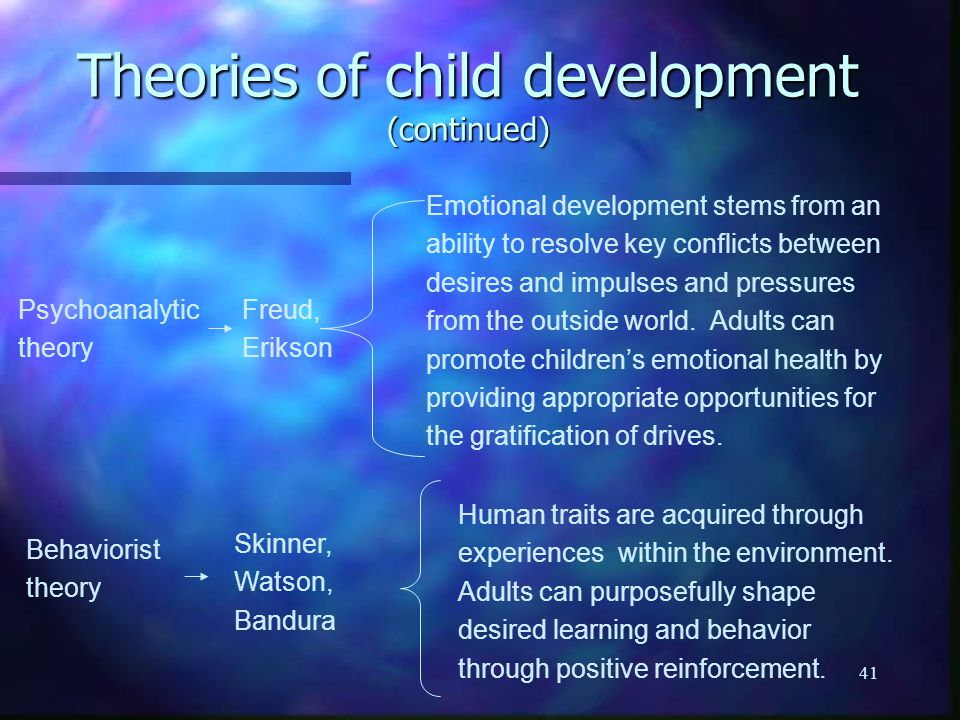 theories of child development pdf