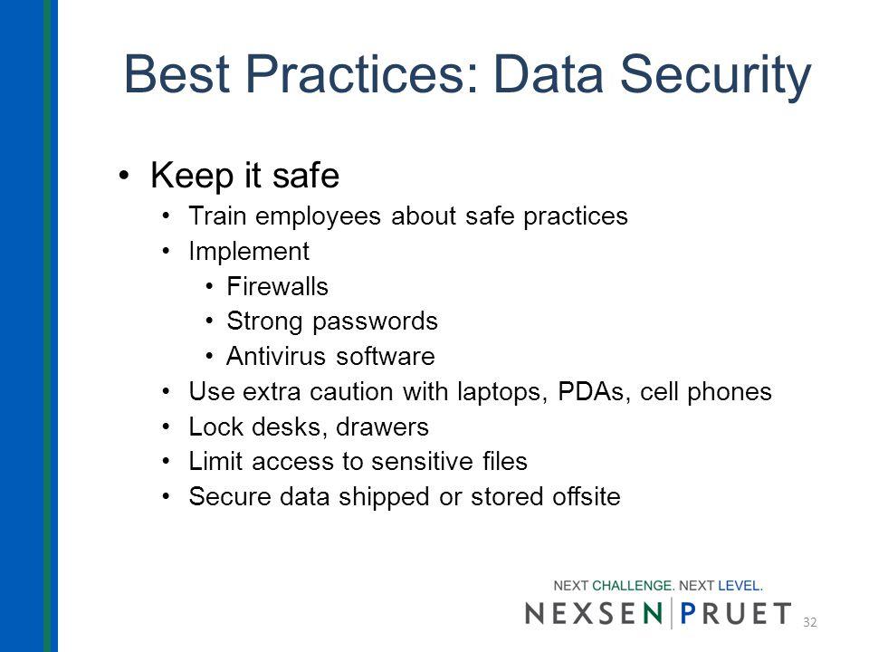data security best practices pdf