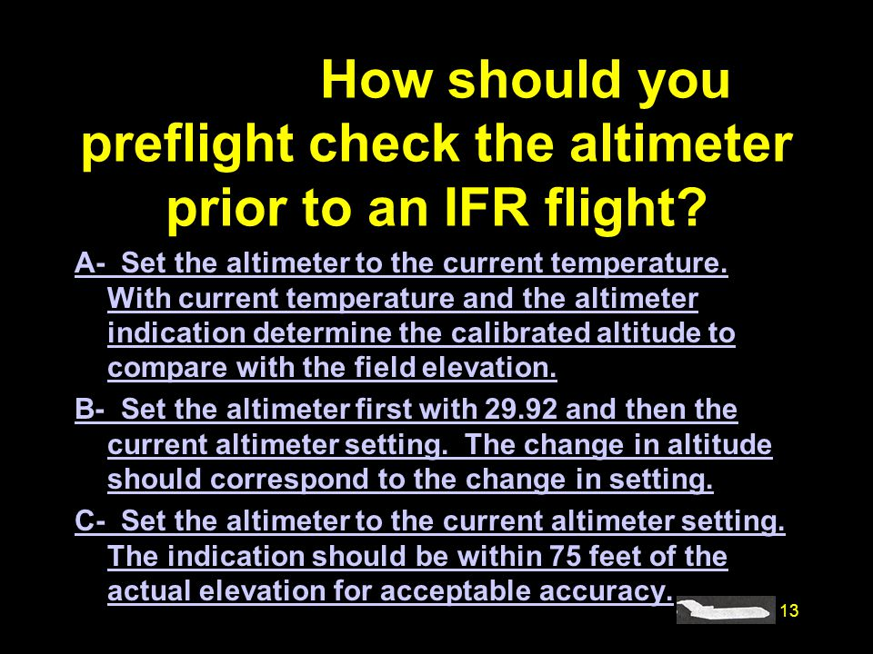 how to change altimeter in fsx
