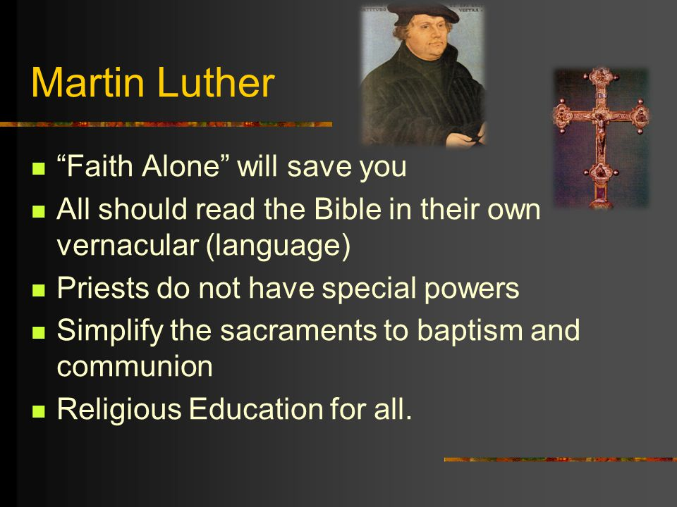 martin luther 95 thesis summary 1517 (31 oct) - martin luther posts the 95 theses in protest at the catholic doctrine of indulgences 1520- luther outlines his theology and other views in three works: to the christian nobility of the german nation, on the babylonian captivity of the church and on the freedom of a christian 1521-henry viii of england opposes luther in writing.