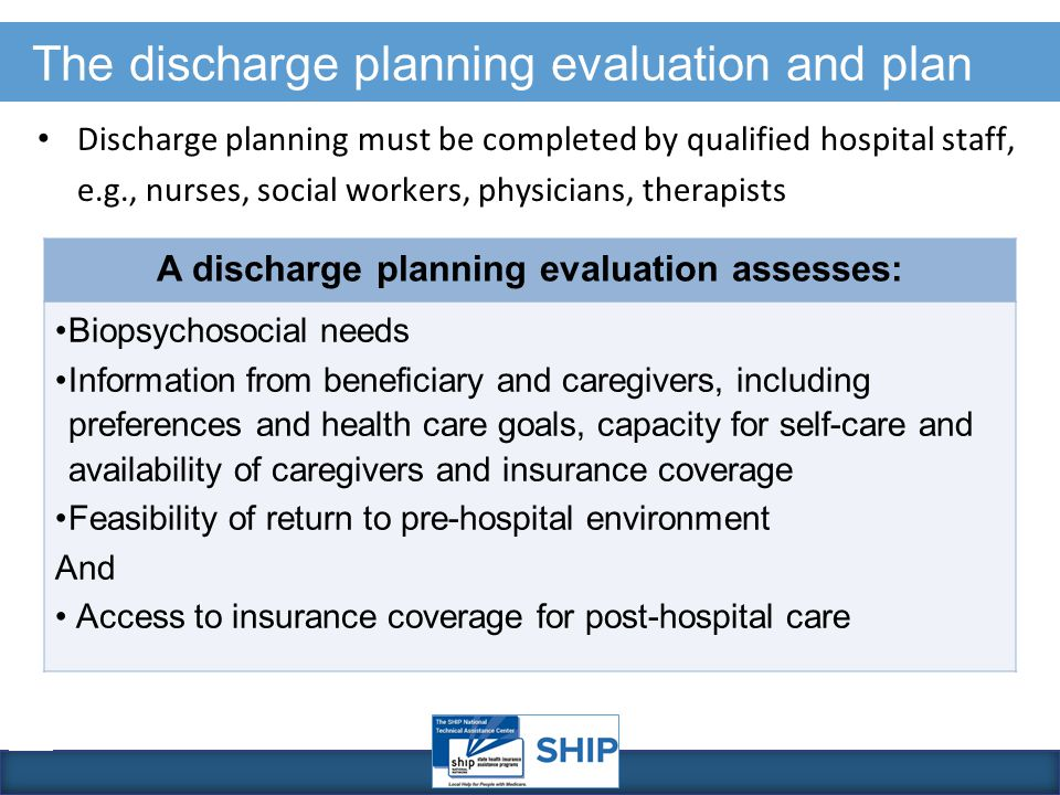 Hospital Discharge Rights and Appeals - ppt download