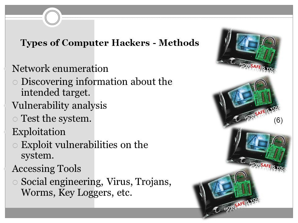 an analysis of the characteristics types and tools of computer hackers Types of computer hackers  both mcafee and infoworld websites describe other types of hackers, most of whom fall into the black hat category of hacking spy .