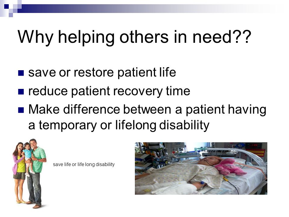 Why helping others in need