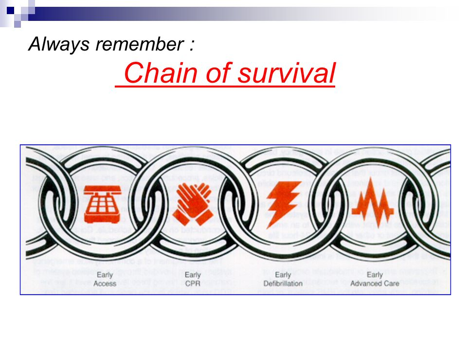 Always remember : Chain of survival