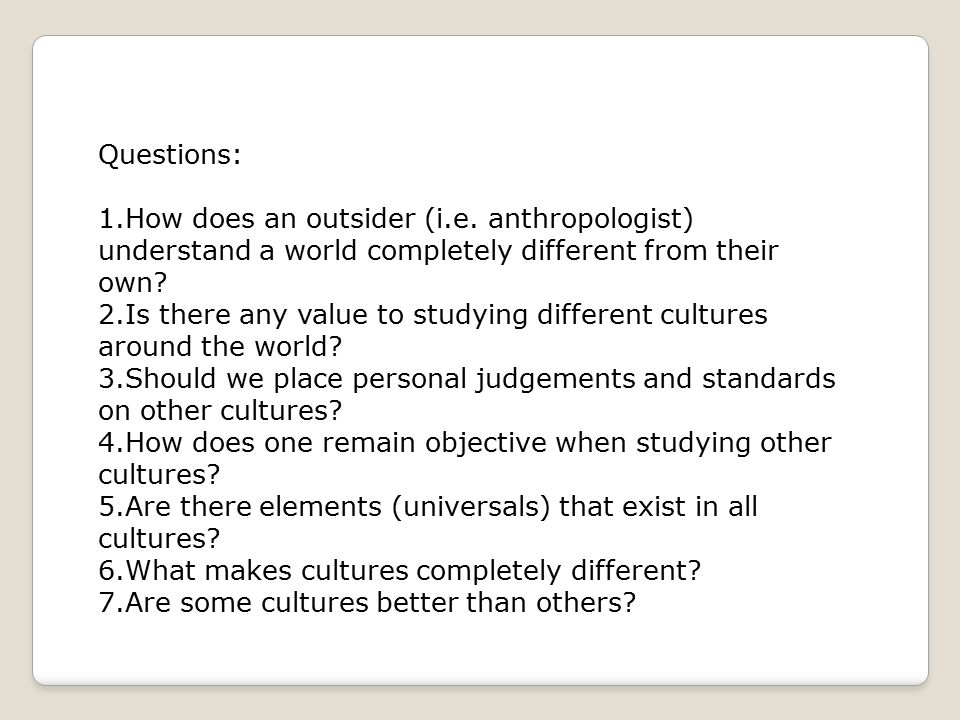 What is an Anthropologist?