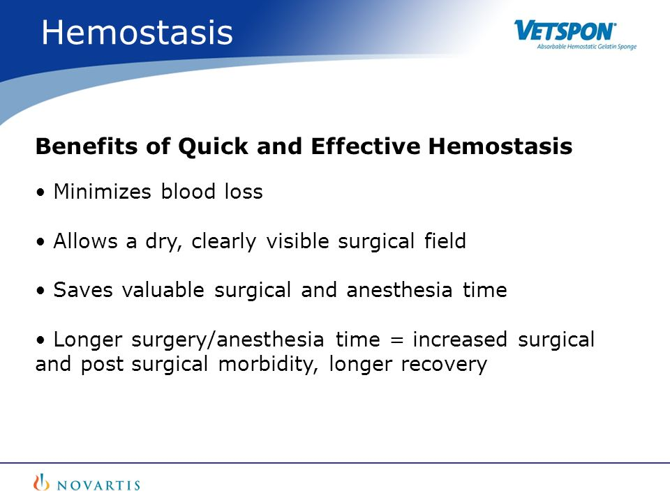 Hemostasis Benefits of Quick and Effective Hemostasis
