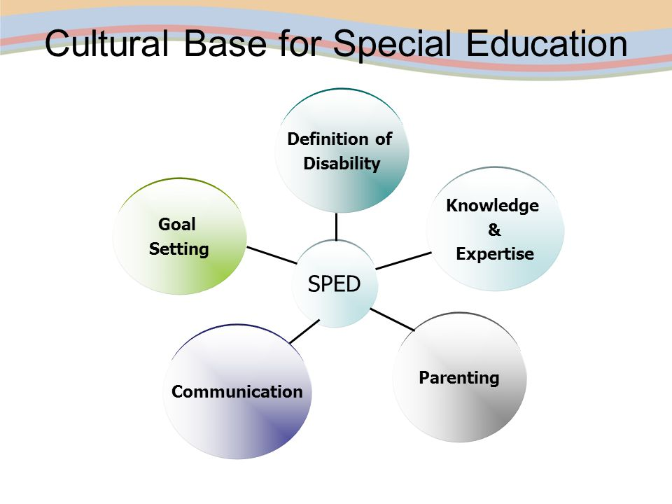 culture and special education The consequences of this strategy for the disability movement and special education are discussed this article critiques the treatment of disability as cultural difference by the theorists of the social model and minority group model of disability.