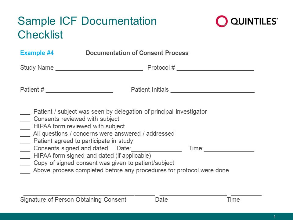 Best Practice How is the informed consent process best documented ...