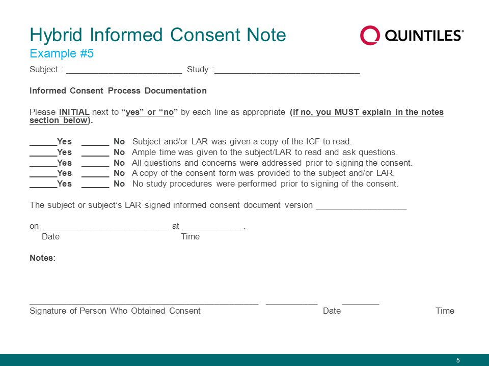 Informed Consent Example Informed Consent Form Templates
