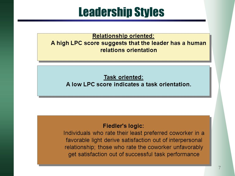 task oriented leader Whether or not a leader has a task-oriented style, some task leadership is always required.