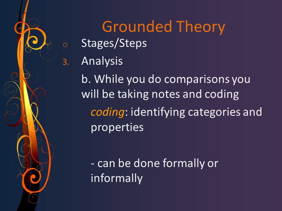 Grounded Theory Stages/Steps Analysis
