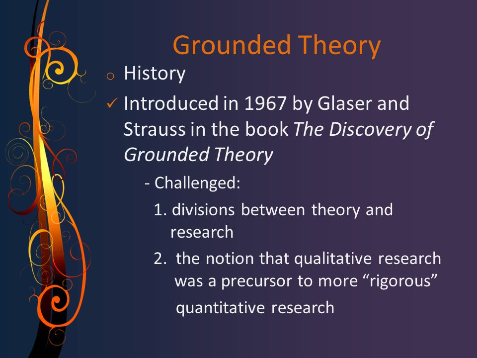 Grounded Theory History