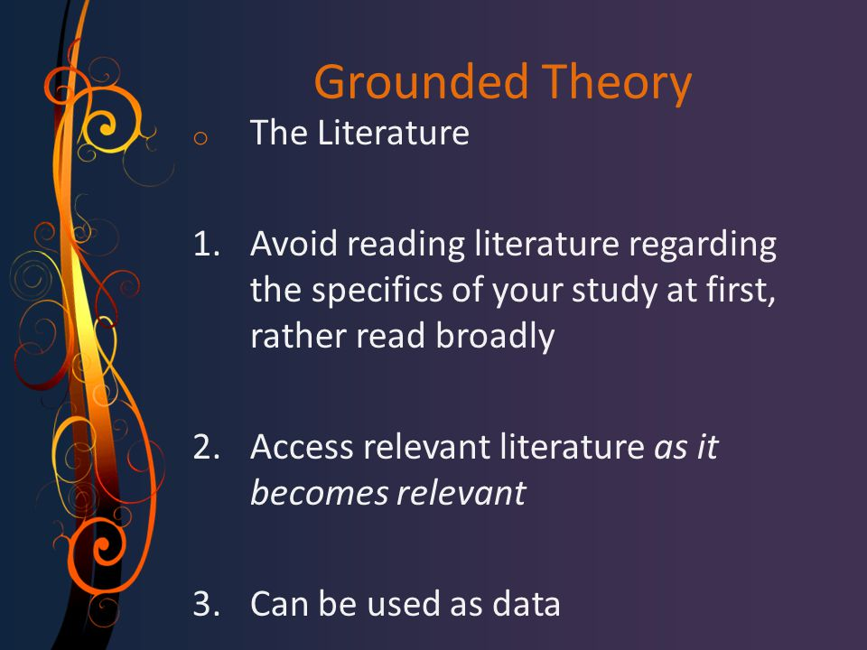 Grounded Theory The Literature