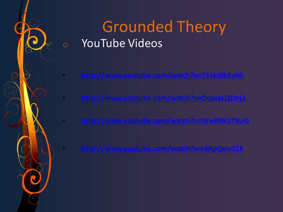 Grounded Theory YouTube Videos