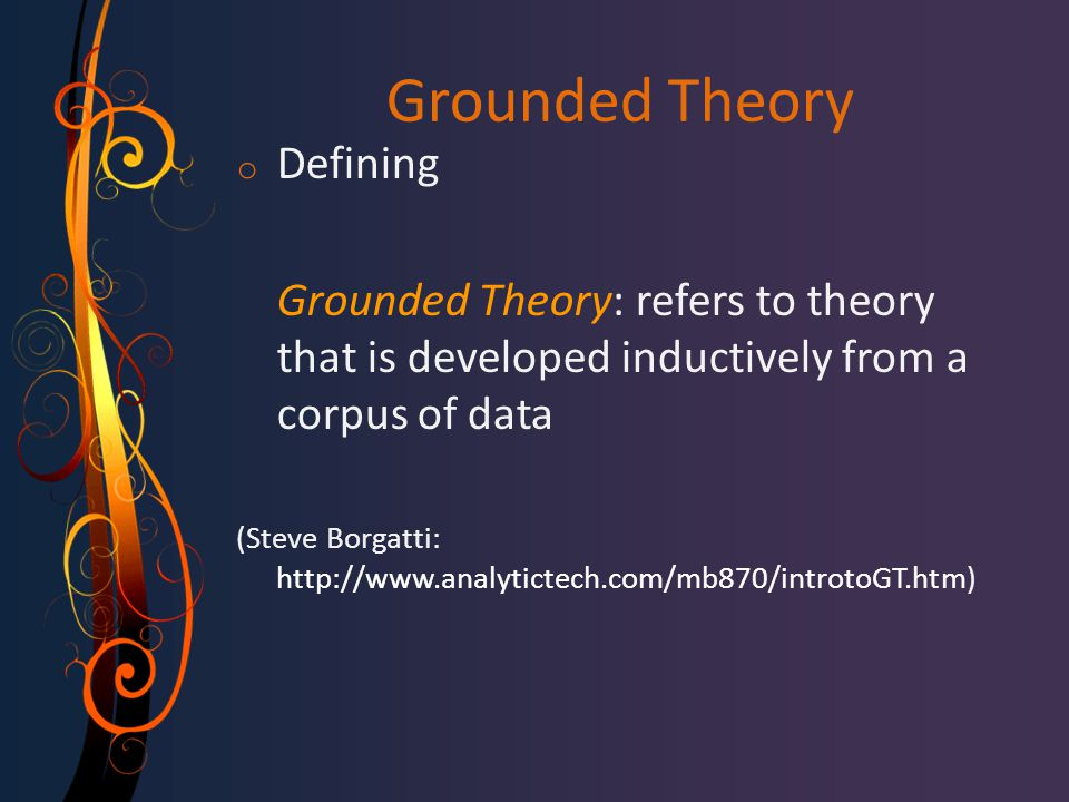 Grounded Theory Defining
