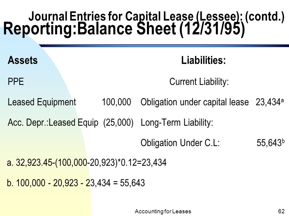 capital lease Capital leasing is a contractual agreement in which a grantee acquires the right to use a capital asset for a specified period of time without obtaining full.