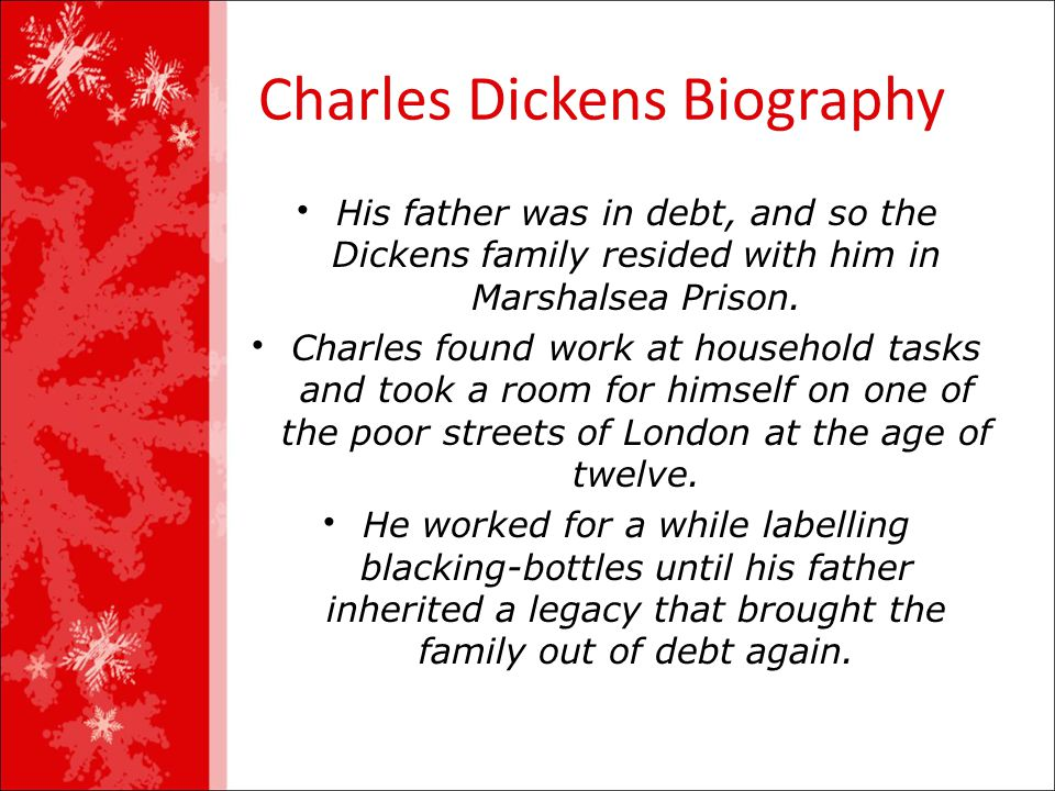 a brief biography of charles dickens and his works English author charles dickens continues to be one of the most widely read victorian (nineteenth-century) novelists scrooge, david copperfield, oliver twist , and nicholas nickelby remain familiar characters today his novels describe the life and conditions of the poor and working class in the victorian era of england,.