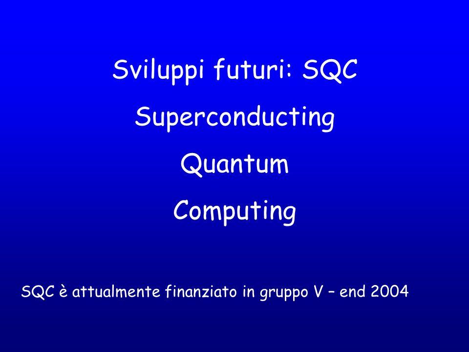Sviluppi futuri: SQC Superconducting Quantum Computing