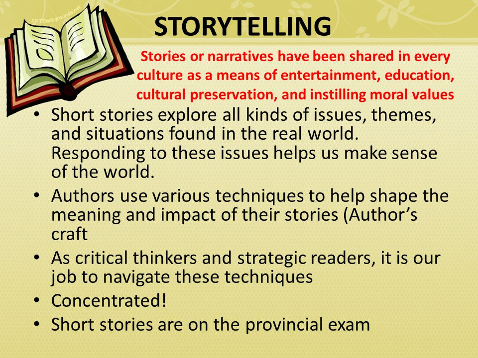 Essay stories with moral values