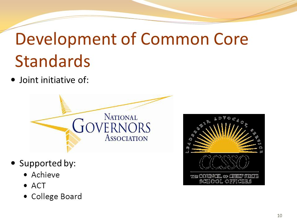 Development of Common Core Standards