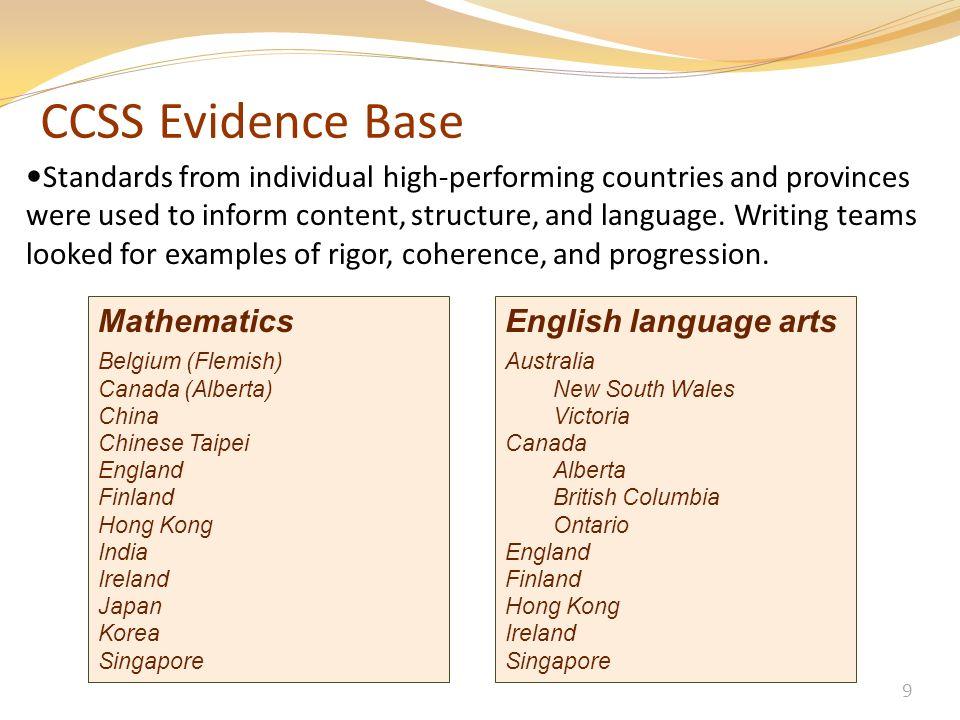 CCSS Evidence Base