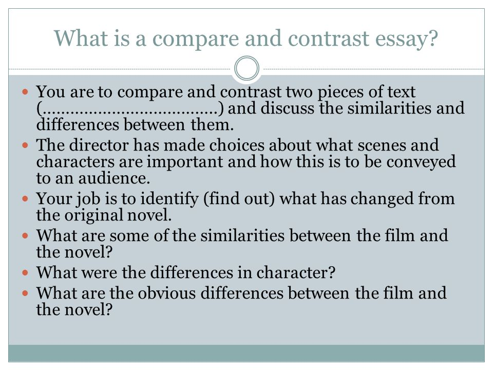 Discuss compare and contrast essay