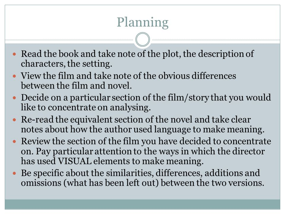 part writing a comparative essay ppt video online  3 planning
