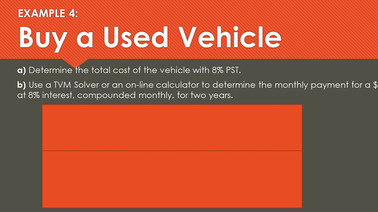 Tvm Solver Car Loan