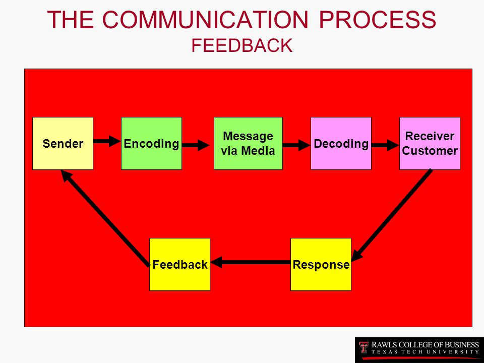 THE COMMUNICATION PROCESS FEEDBACK