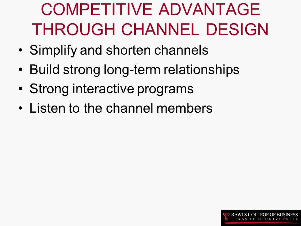 COMPETITIVE ADVANTAGE THROUGH CHANNEL DESIGN
