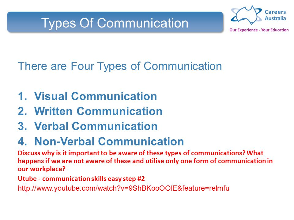 four types of communication Assertive communication clearly states one's opinions and feelings, and firmly advocates for his or her rights and needs without violating the rights of others assertive communication is the result of high self-esteem.