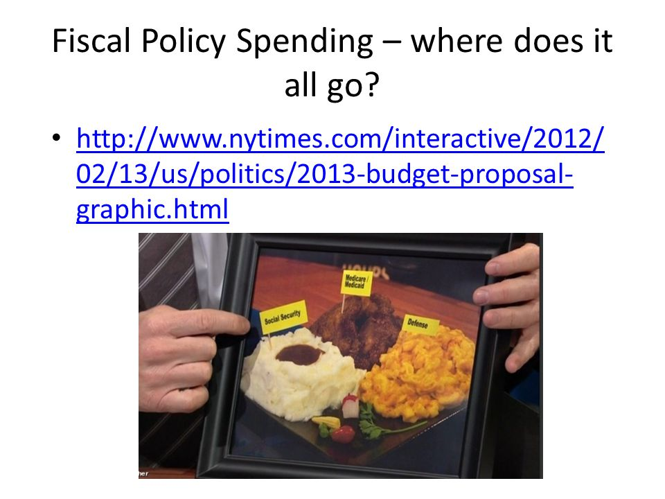 Fiscal Policy Spending – where does it all go