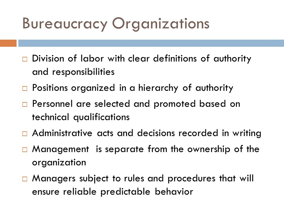 Bureaucracy Organizations