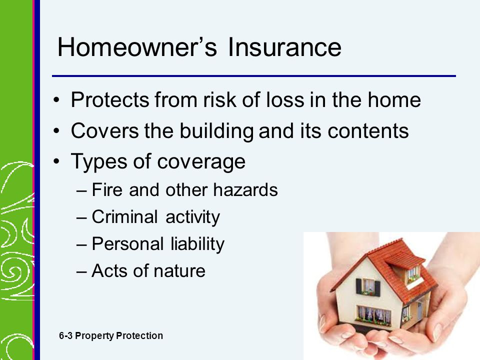 Personal risk management insurance ppt download for Insurance construction types