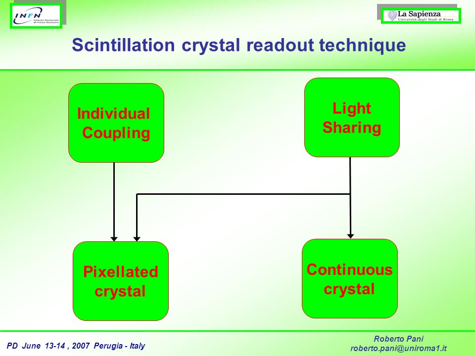 Scintillation crystal readout technique