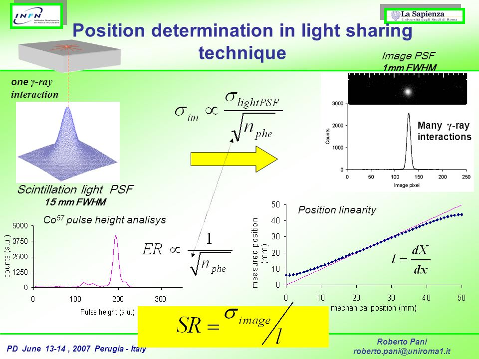 Position determination in light sharing technique