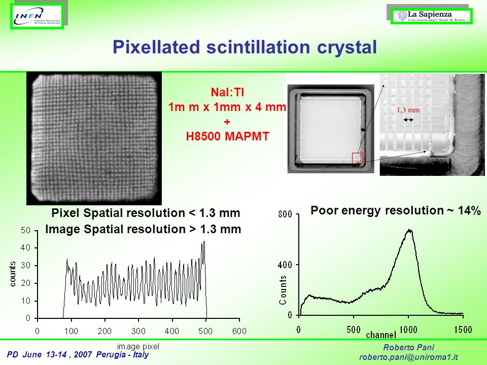 Pixellated scintillation crystal