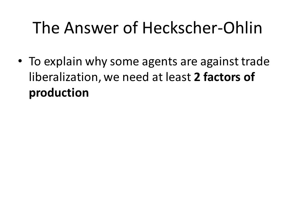 heckscher ohlin theory of international trade pdf