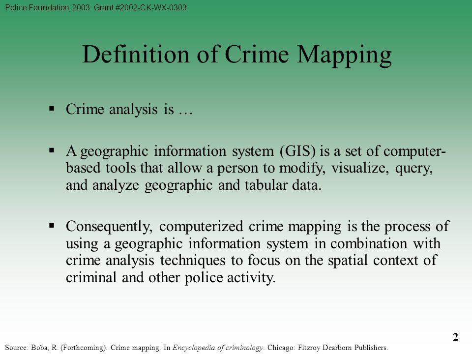 An analysis of computers and crime