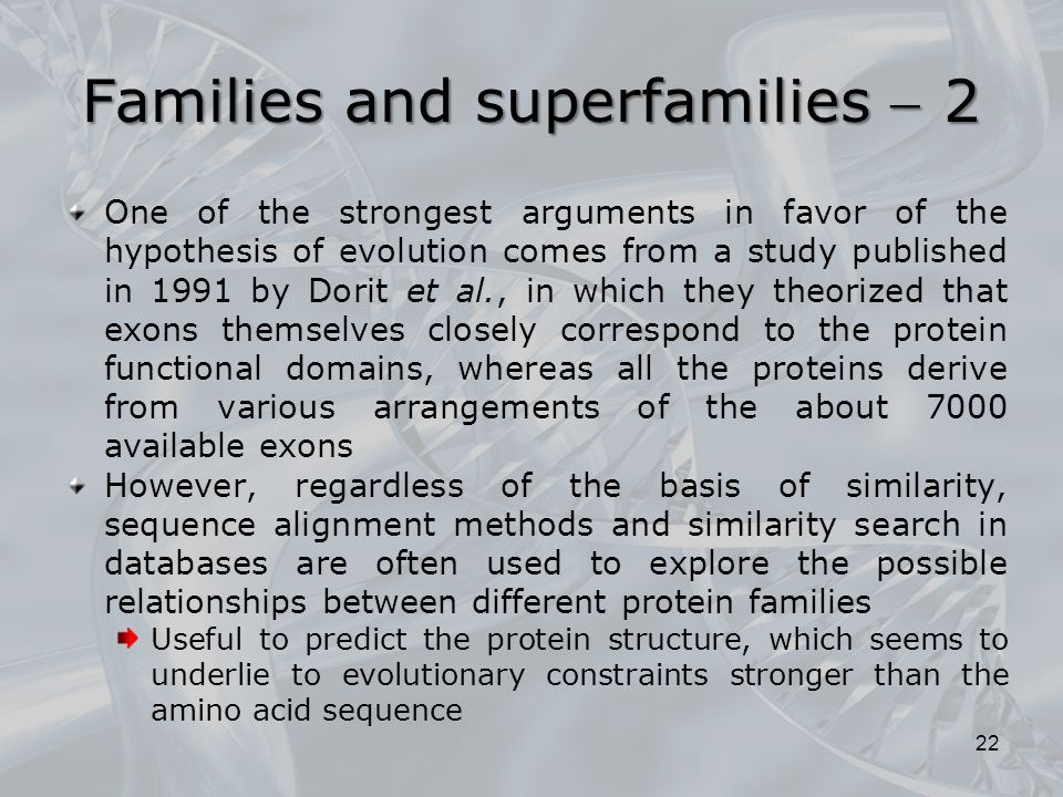 Families and superfamilies  2